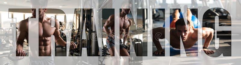 De Atleet Training van het motivatieteken in Gymnastiek royalty-vrije stock foto's
