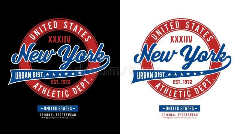 De atletische vector van New York vector illustratie