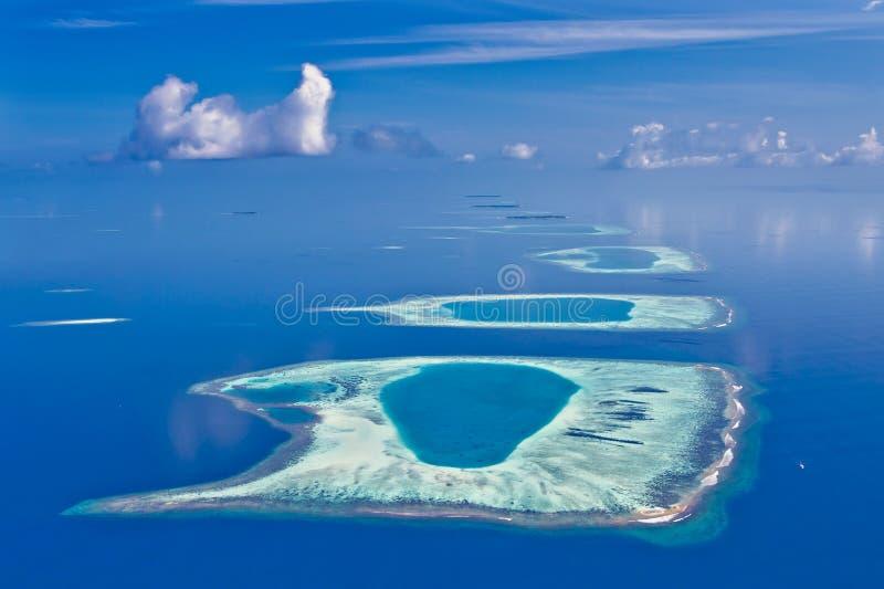 De Atollen van de Maldiven royalty-vrije stock afbeeldingen