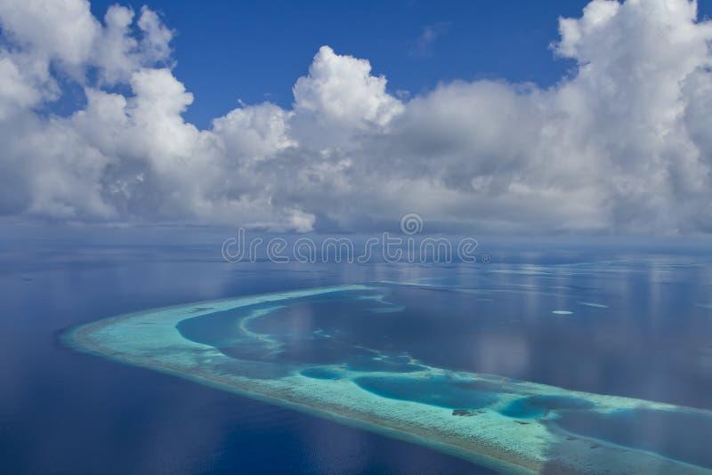 De Atollen van de Maldiven stock fotografie