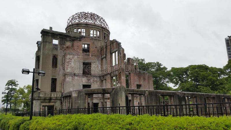De Atoomkoepel van Hiroshima stock afbeeldingen