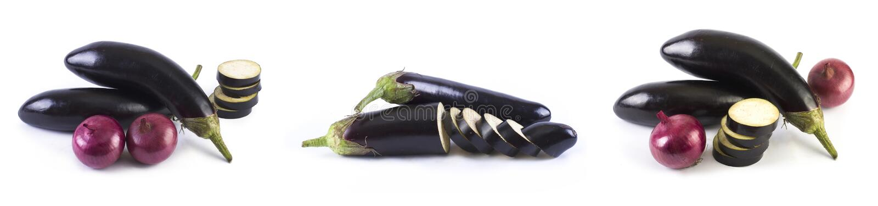 De aubergine op witte achtergrond royalty-vrije stock foto's