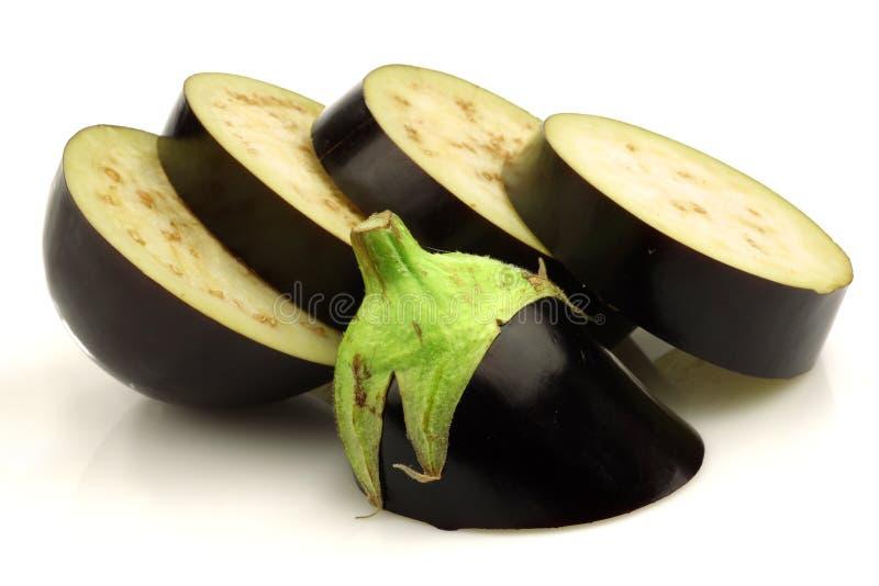 De aubergine van de besnoeiing stock foto