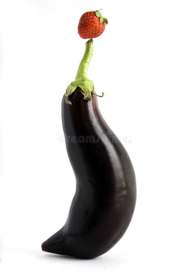 De aubergine van het circus stock fotografie