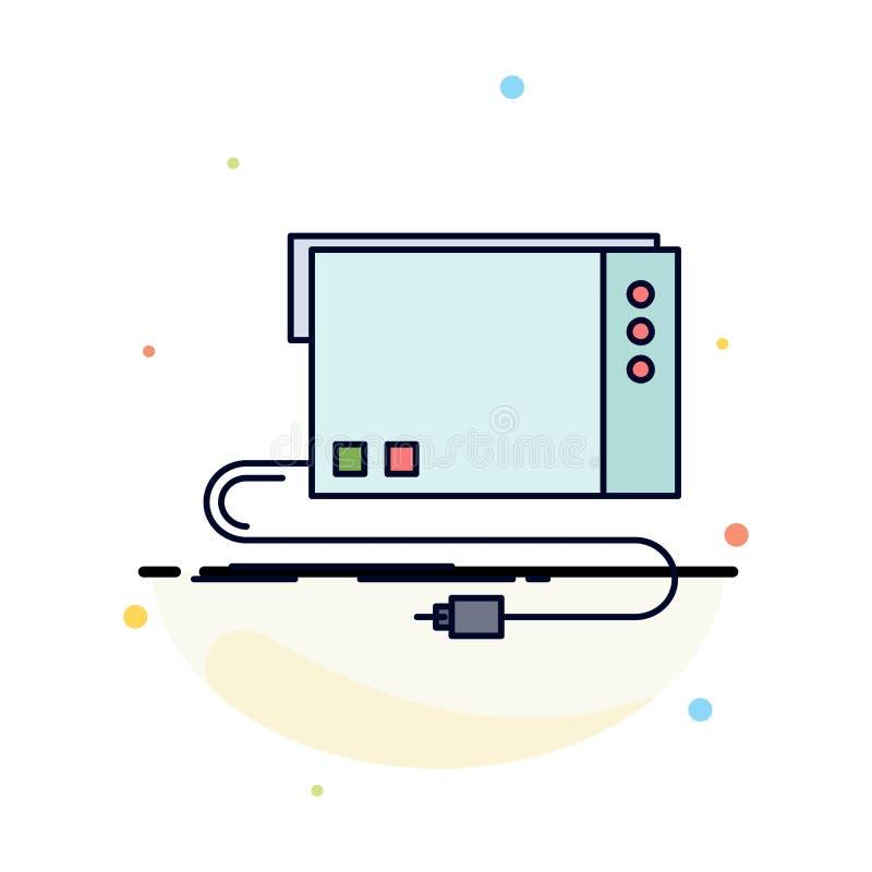 de audio, externe kaart, interface, klinkt de Vlakke Vector van het Kleurenpictogram royalty-vrije illustratie