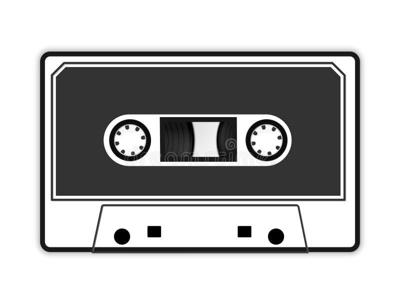 De audioillustratie van de cassetteband stock illustratie