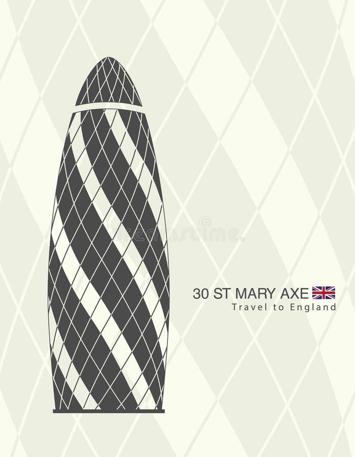 De augurk, Londen 30 St Mary Axe royalty-vrije illustratie