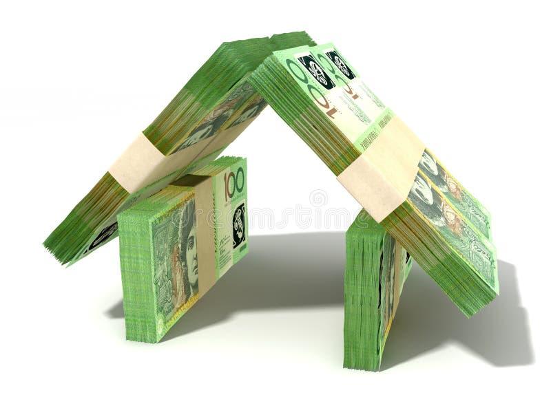 De Australische Dollar neemt nota Huis van Perspectief vector illustratie