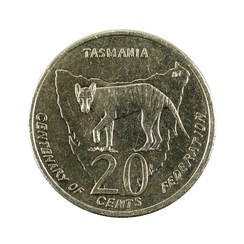 20 de Australische obvers van het centmuntstuk 2001 royalty-vrije stock foto