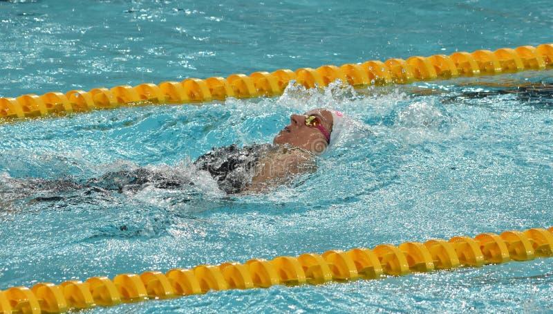De Australische olympian en zwemmer Emily SEEBOHM AUS van de wereldkampioen royalty-vrije stock fotografie