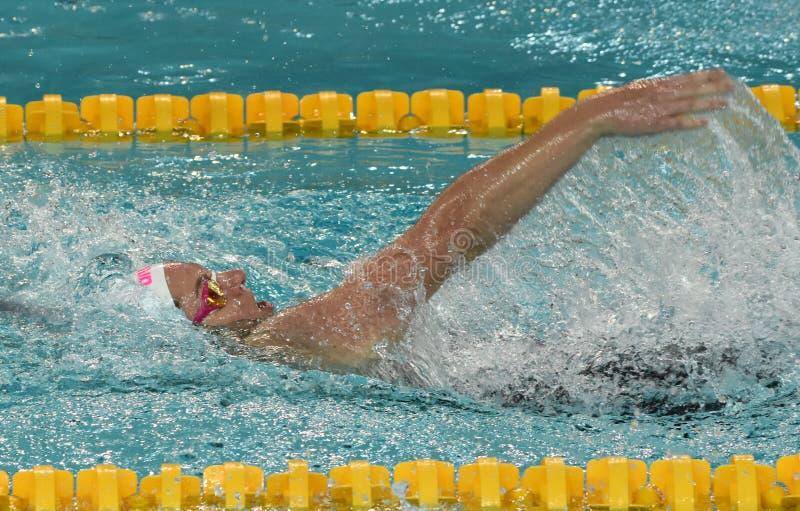 De Australische olympian en zwemmer Emily SEEBOHM AUS van de wereldkampioen stock afbeelding