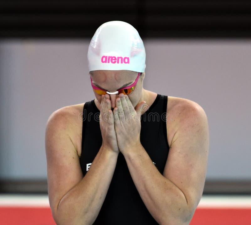 De Australische olympian en zwemmer Emily Seebohm van de wereldkampioen stock afbeelding