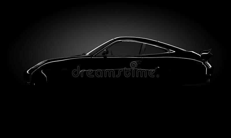 De auto glanst silhouet stock afbeeldingen