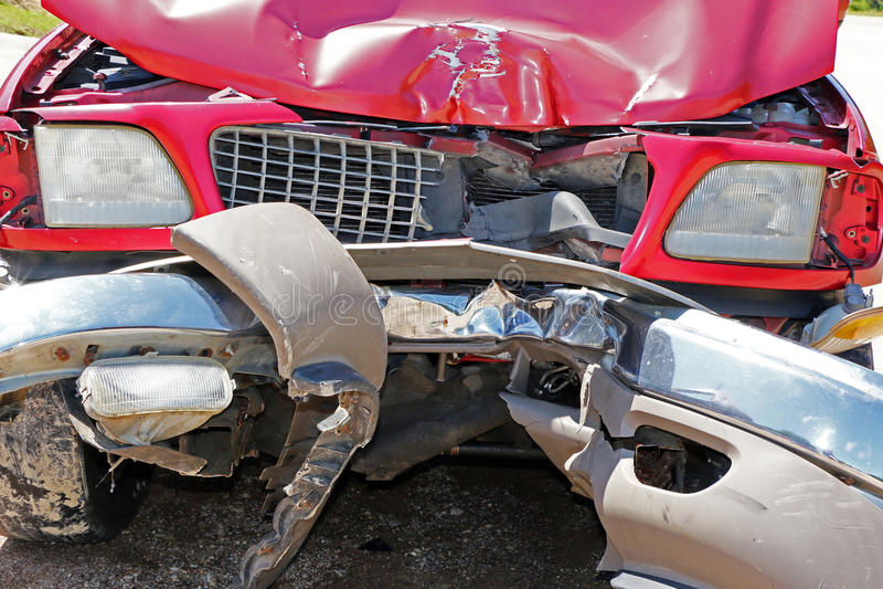 De auto raakte de Bestuurder Texting van Telefoonpool stock foto's