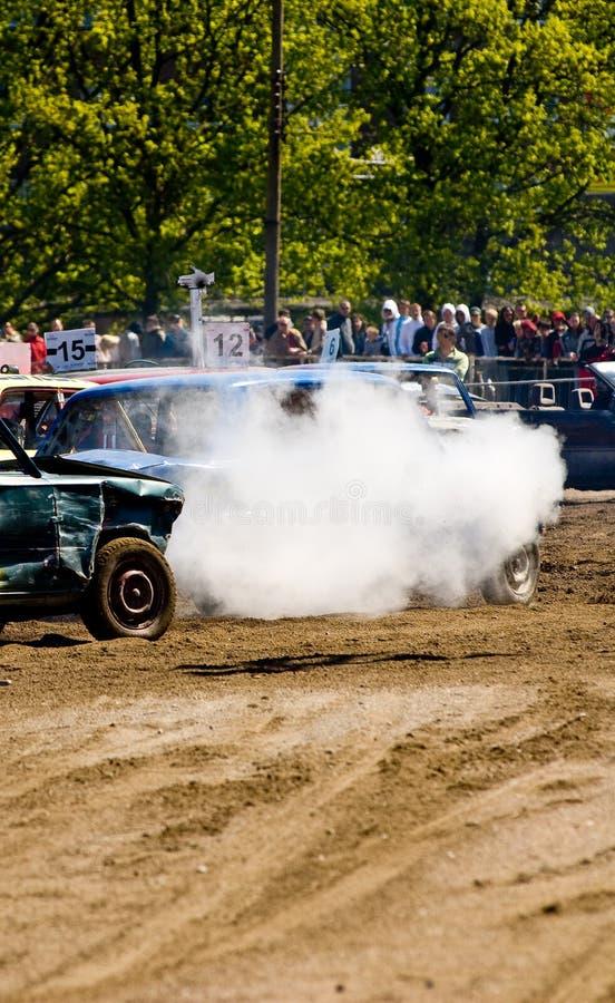 De Auto's van de Derby van de vernieling stock afbeeldingen
