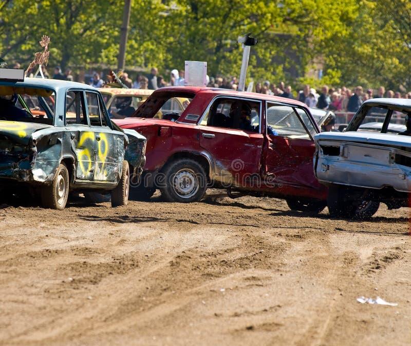 De Auto's van de Derby van de vernieling stock foto