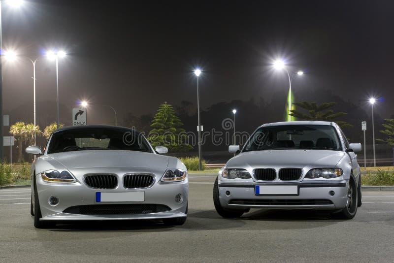 De Auto's van de luxe stock afbeelding