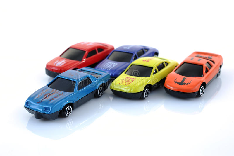 De auto's van het stuk speelgoed stock fotografie