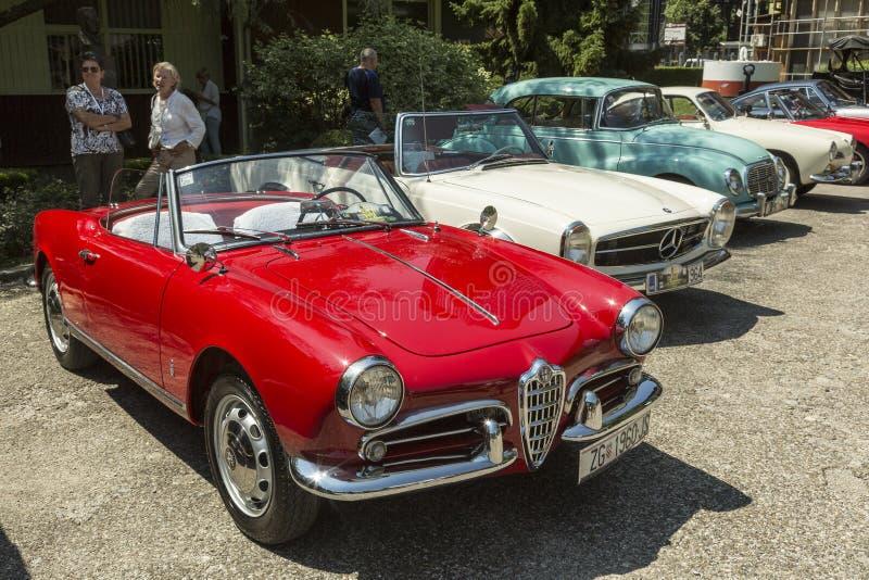 De auto van Alfa Romeo oldtimer royalty-vrije stock foto