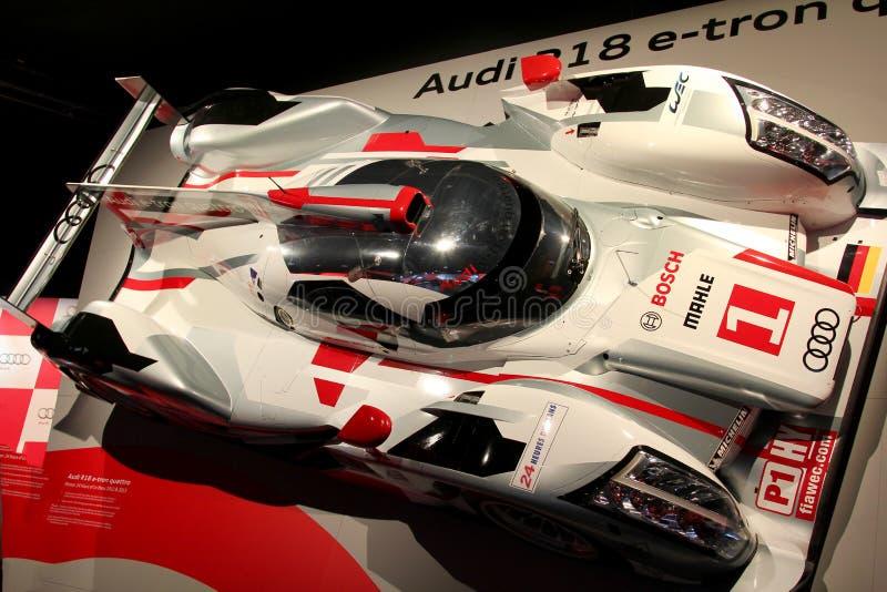 De auto van Audi R18 Le Mans royalty-vrije stock foto's