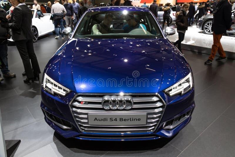 De auto van Audi S4 Berline stock foto's