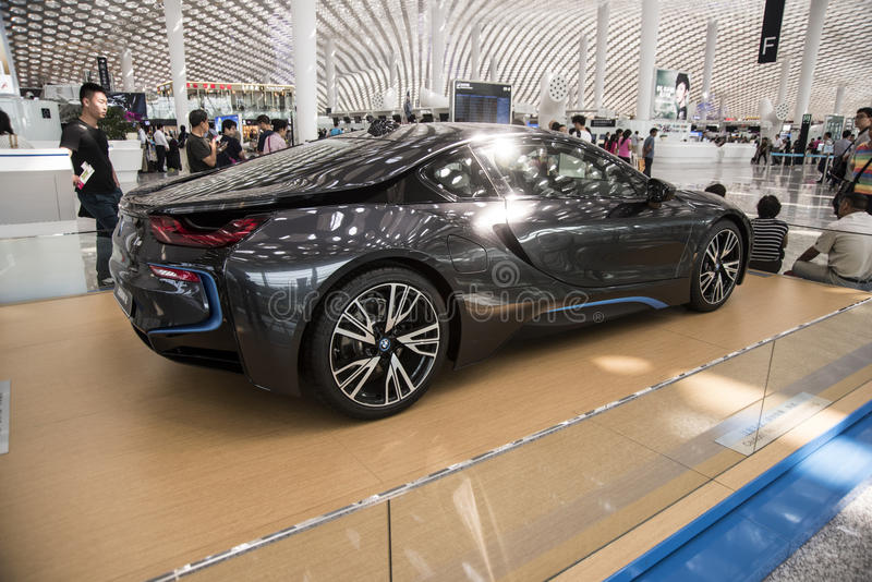 De auto van BMW i8 royalty-vrije stock afbeelding