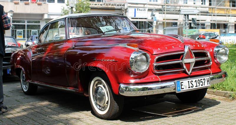 De auto van Borgwardisabella oldtimer in Kettwig royalty-vrije stock foto's