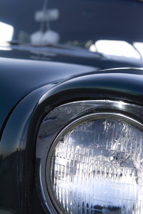 De Auto van close-upfront headlight classic vintage muscle royalty-vrije stock foto