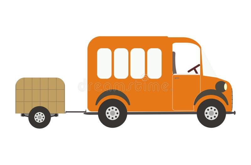 De Auto Van De Bestelwagen En Van De Bagage Royalty-vrije Stock Fotografie