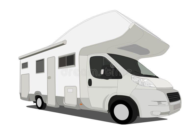 De auto van de caravan royalty-vrije illustratie