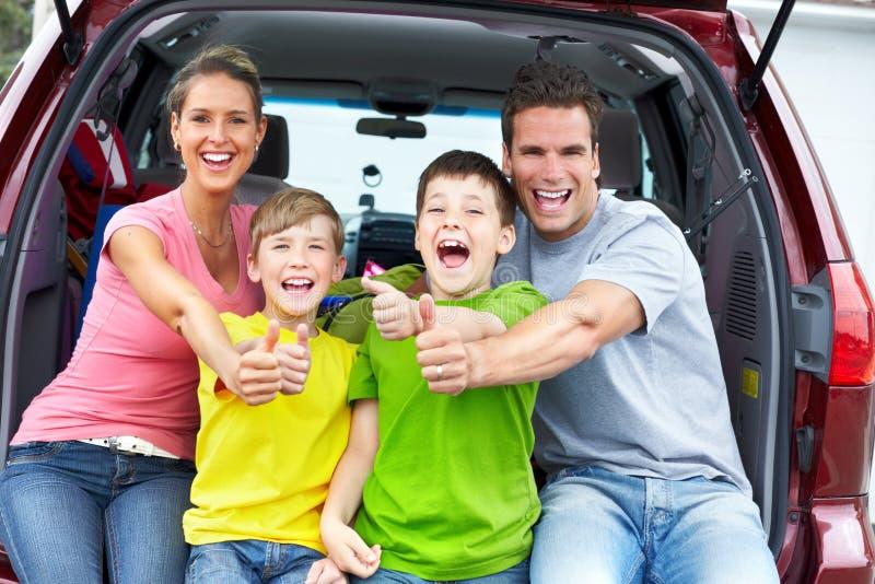De auto van de familie royalty-vrije stock afbeeldingen
