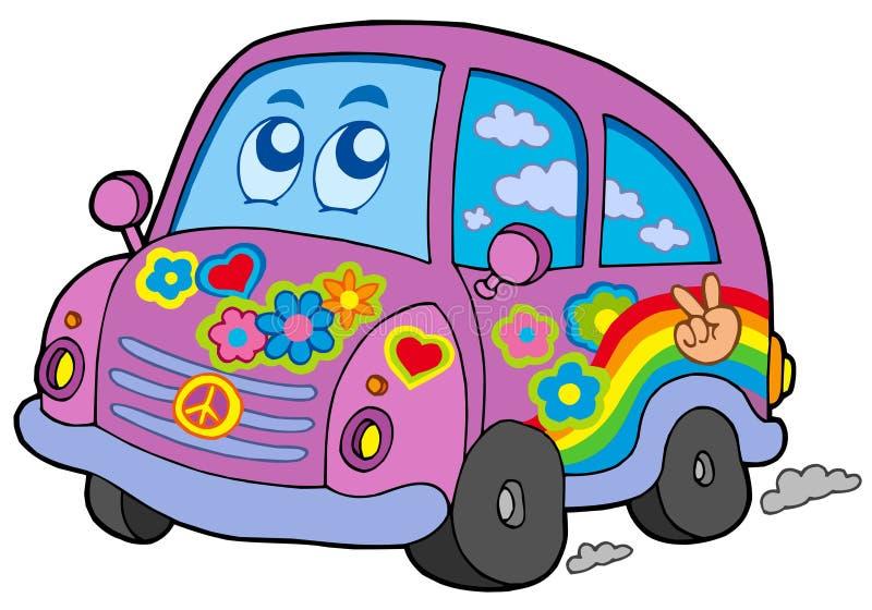 De auto van de hippie stock illustratie