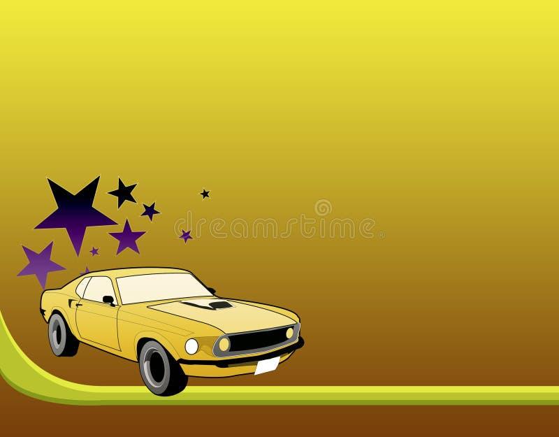 De auto van de mustang royalty-vrije illustratie