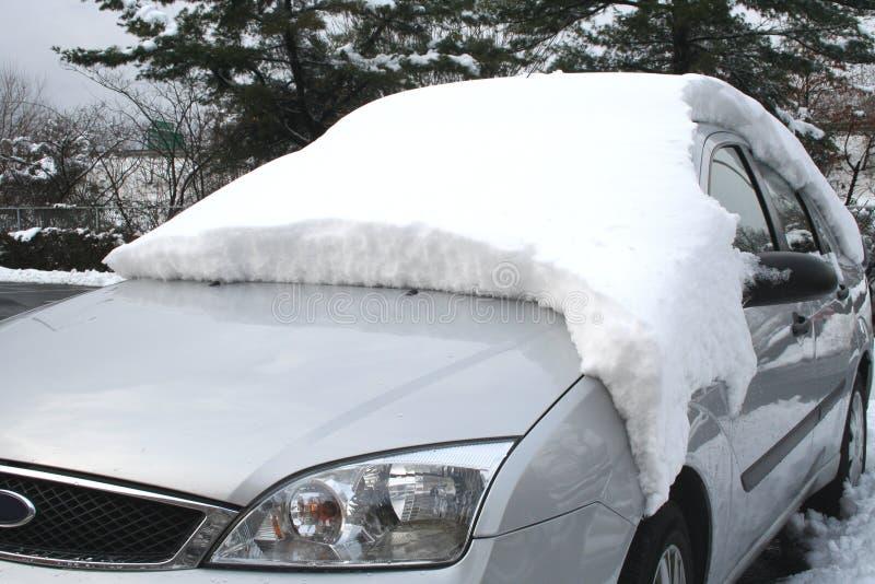 De auto van de sneeuw stock foto