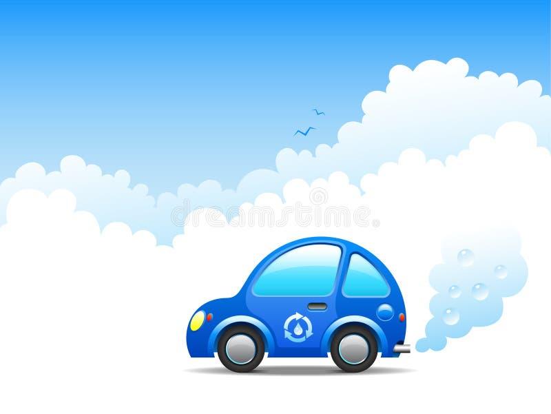 De auto van de waterstof vector illustratie
