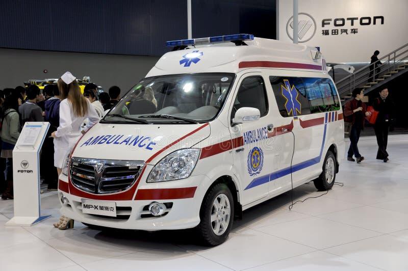 De auto van de Ziekenwagen FOTON stock foto