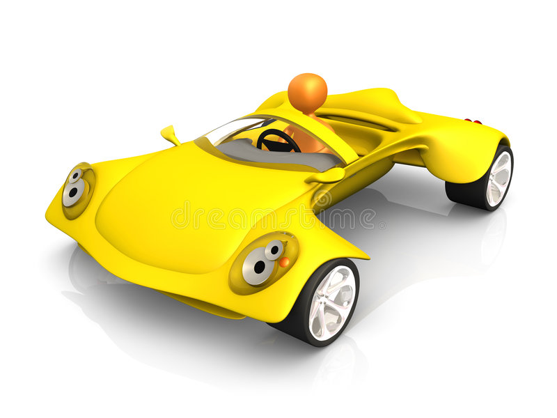 De Auto van het concept royalty-vrije illustratie