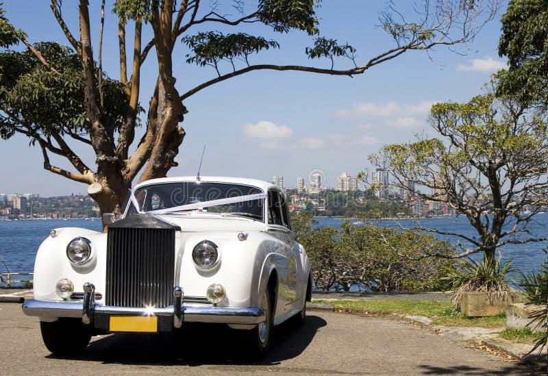 De Auto van het Huwelijk van de luxe stock fotografie