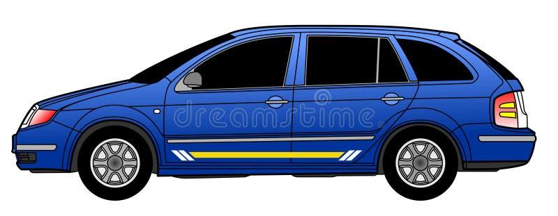 De auto van het landgoed royalty-vrije illustratie