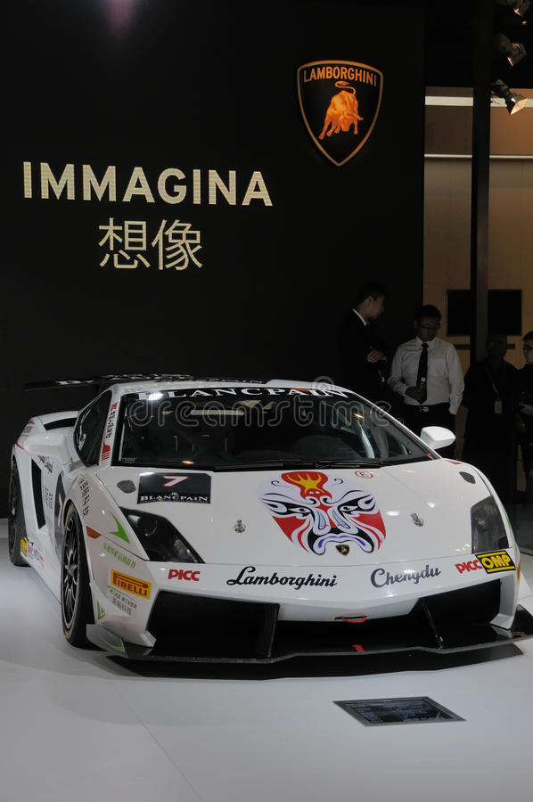 De auto van Lamborghini in Chinese stijl royalty-vrije stock afbeeldingen