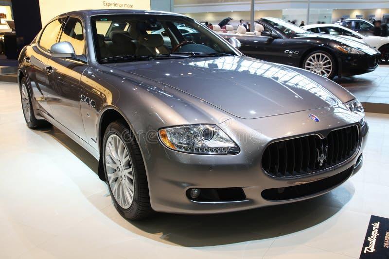 De auto van Quattroporte van Maserati royalty-vrije stock afbeelding