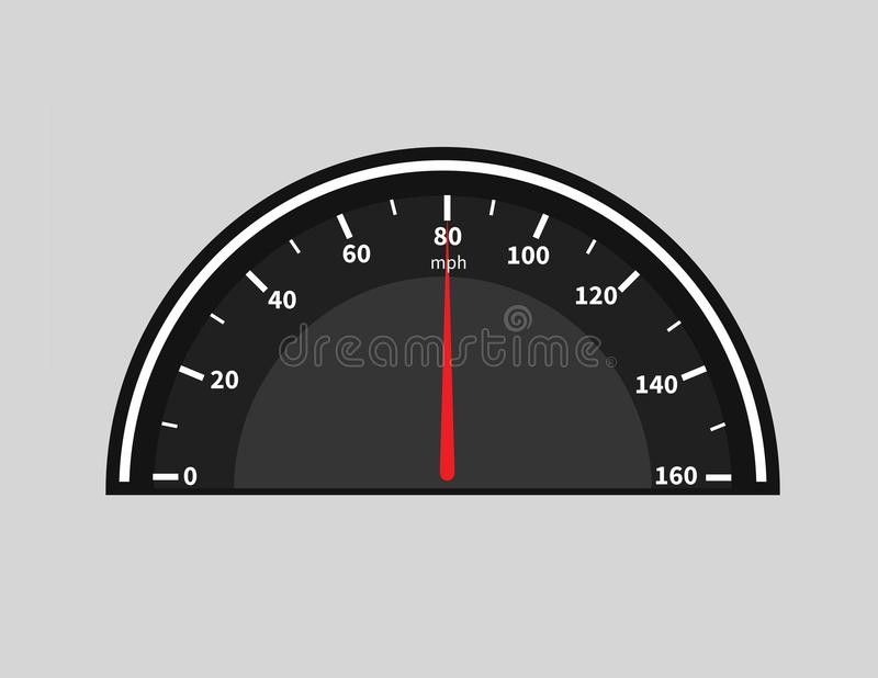 De auto van de snelheidsmetercyclus met rode teller royalty-vrije stock afbeeldingen