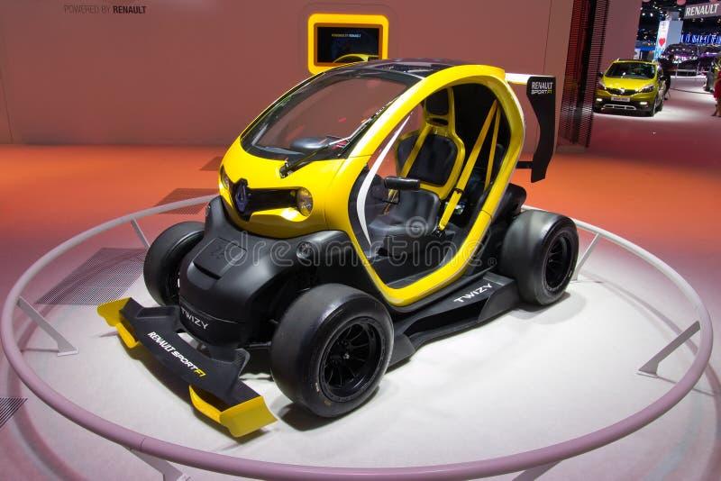De auto van Twizyrenault sport F1 royalty-vrije stock afbeelding