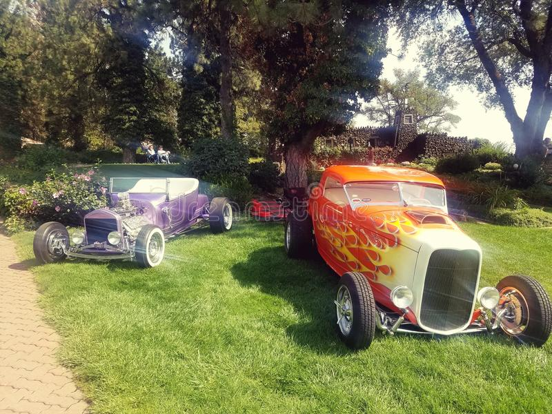 De auto van de zomerdagen toont antiquiteiten stock foto's