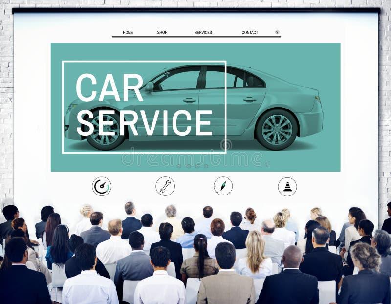 De autodienst het Bevestigen Onderhoudsgarage die Concept herstellen royalty-vrije stock foto's