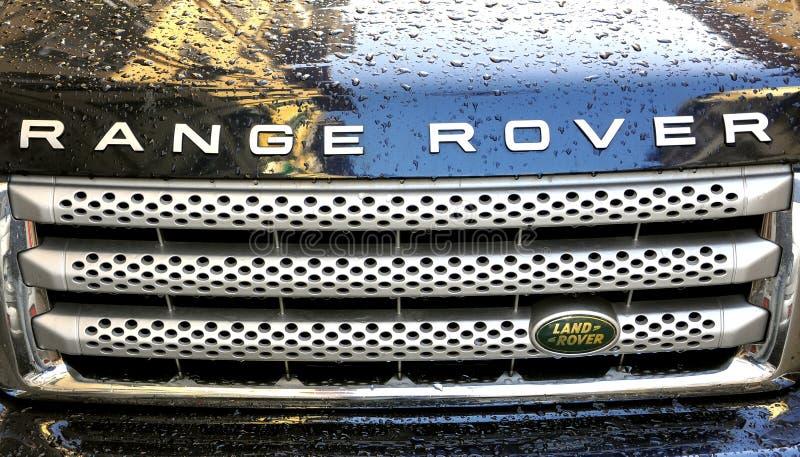 De autoembleem van de zwerver royalty-vrije stock afbeelding