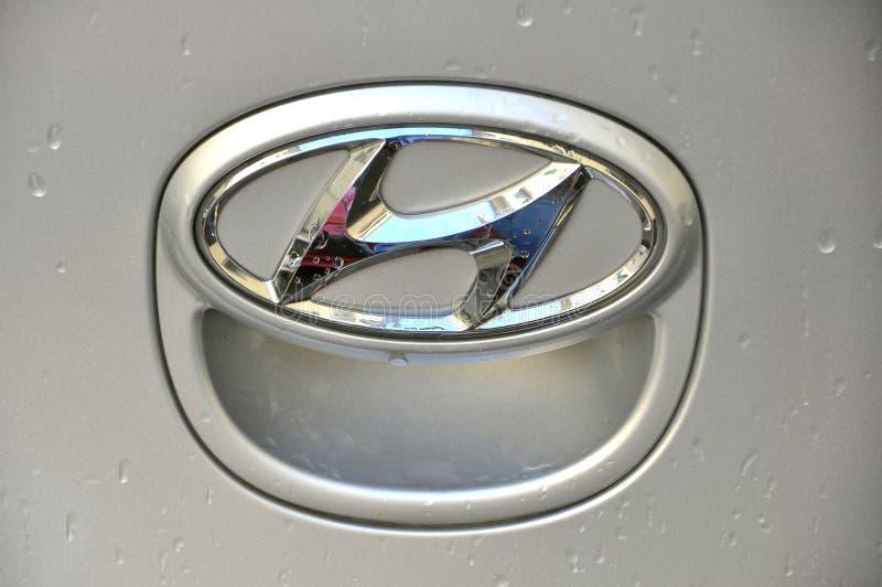 De autoembleem van Hyundai royalty-vrije stock afbeeldingen