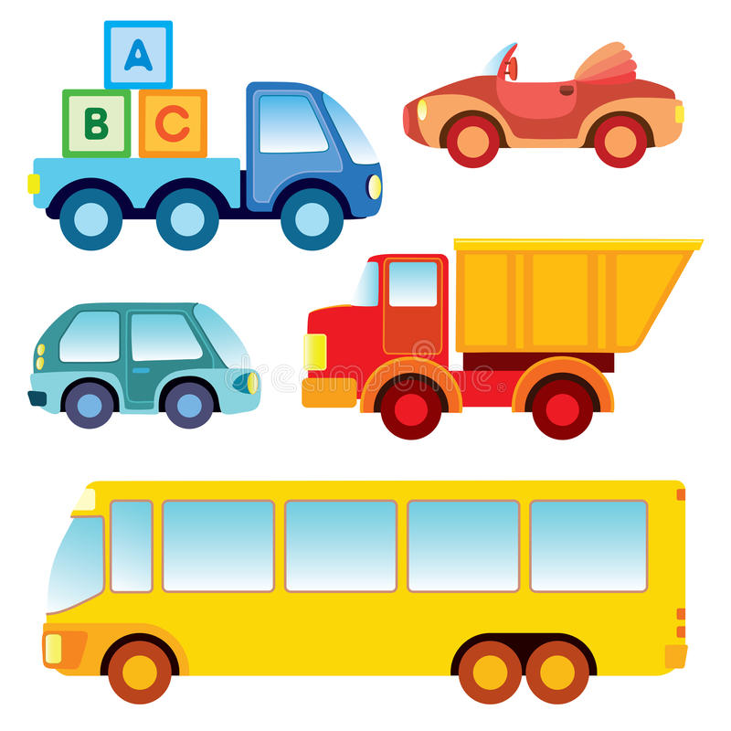 De autoinzameling van het stuk speelgoed vector illustratie