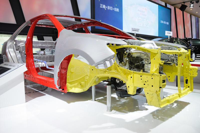 De autolichaam van Toyota Camry stock foto