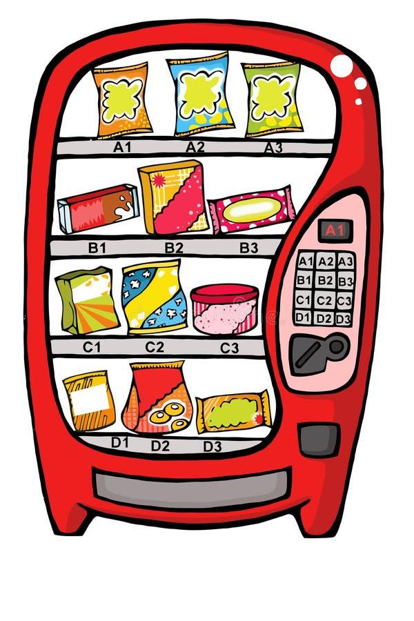 Download De Automaat Van Het Voedsel Vector Illustratie - Illustratie bestaande uit vector, spaanders: 24746159